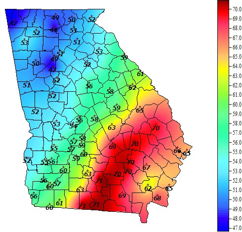 Some parts of Georgia saw record-breaking warm temperatures just days before Christmas due to a wave of warm air.